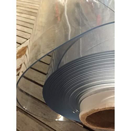 MadeInNature Nappe Cristal Transparente épaisse, Tailles et épaisseurs au Choix, Nappe Transparente rectangulaire, Permet de ne Pas dénaturer la Table, (140 x 250 cm, 0,78mm)