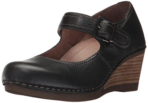 Dansko Women's Sandra Mary Jane Flat, Black Milled Nappa, 36 EU/5.5-6 M US
