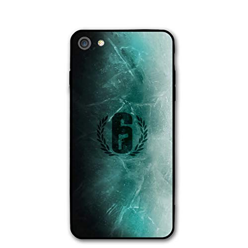 Rainbow Six Siege Phone Cases Compatible with iPhone 7 or for iPhone 8 Shell Basic Back Soft Black Cell Mobile Cover Protective Case with TPU+PC Frame