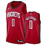 CXXX Conjunto de Camisetas de la NBA, Jersey de Baloncesto Bordado Rockets No. 0 Jersey de Baloncesto Bordado Talla S-XXL