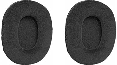Velour Padded Earcushions for Audio Technica Athm30, Sony Mdr7506 and V6 Headphones (Pair)