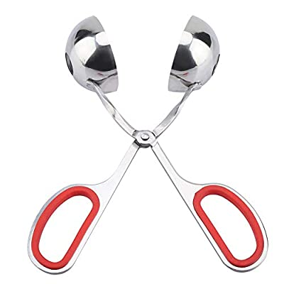 Stainless Steel Meatball Scoop Ball Maker with Anti-slip Handles for Home Use (Red) from Agatige