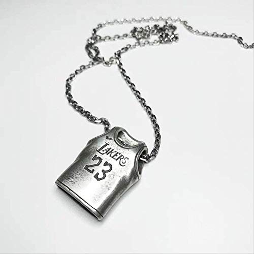 NC56 Basketball Pendant Necklace For Basketball Fans Sporter Number #23#24 Necklaces Stainless Steel Punk Jewelry