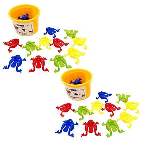 STOBOK 24 Piezas Lindo Bounce Finger Press To Jump Frog Juguete Juguete Educativo Rana Jump Juguete para Niños Premio de Competición de Jardín de Infantes Regalo de Fiesta Divertida