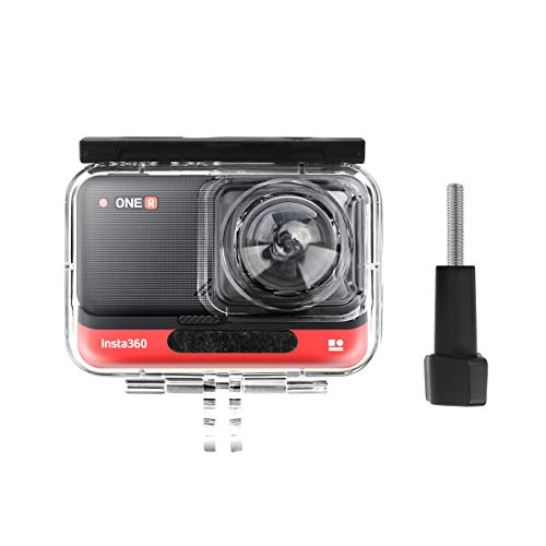 AFAITH Wasserdichtes Gehäuse Tauchtasche für Insta360 ONE R 360 Grad Panorama Action Kamera, Unterwassertauchschutzschale 40M mit Halterungszubehör