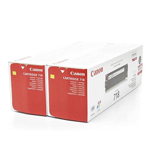 Canon Original 2662B005 / 718BKVP, für i-SENSYS MF 728 Cdw 2X Premium Drucker-Kartusche, Schwarz, 3400 Seiten