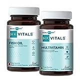 HealthKart Omega ( Fish Oil + Multivitamin for Men & Women , 60 capsules each)