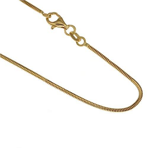 Collana In Oro Giallo 18kt 750/1000 Modello Coda Di Topo Lucida Unisex