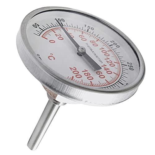 SHURROW Sonde-frituurthermometer voor brouwen met instant read roestvrijstalen schacht meetklok zilver