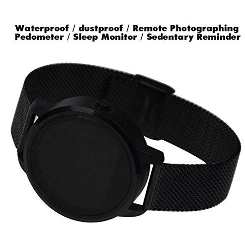 Pinkbenmus - Bluetooth Smartwatch Android/Pantalla tactil capacitiva, Reloj Inteligente De Pulsera, Alarma Anti-Perdida, Compatible iOS 7.0 + / Android 4.4+ Podómetro