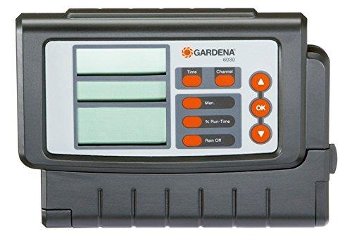Gardena Bewässerungssteuerung Classic 6030: Bewässerungscomputer zur automatischen Bewässerung, großes Display, für bis zu 6 Ventile (1284-20)