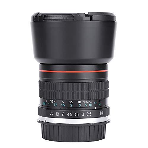 EBTOOLS Obiettivo Full Frame Prime, 85mm F1,8 Medio Teleobiettivo Messa a fuoco manuale Obiettivo Full Frame Prime per fotocamere DSLR(Canon EF)