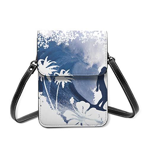 Handy-Geldbörse, die Longboard-Surfer-Tasche mit verstellbarem Schultergurt