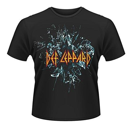Plastic Head Def Leppard Camiseta, Negro, Large para Hombre