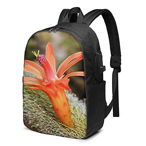 Laptop Backpack with USB Port Orange American Golden Rat, Business Travel Bag, College School Computer Rucksack Bag for Men Women 17 Inch Laptop Notebook