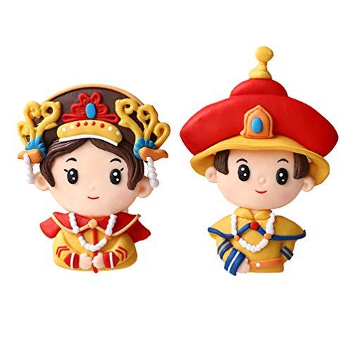 ABOOFAN 2Pcs Adornos de La Torta de La Reina Del Emperador Chino Regalo de Las Decoraciones Del Ao Nuevo Lunar para Los Chinos