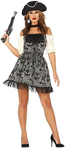 Damen Barock Pirat Vixen Captain Seven Seas Karibik Junggesellinnenabschied Party TV Buch Film Halloween Karneval Kostüm Outfit