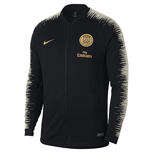 Nike PSG M NK ANTHM FB JKT Herren Jacke Mehrfarbig (Black/Black/Light Bone/Truly Gold)