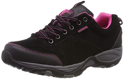 """Scarpe da camminata da donna foderate, leggere e impermeabili, con suola in memory foam e chiusura con lacci, scarpe comode ideali per camminare modello """"Keller"""", (Black/pink), 40 EU"""