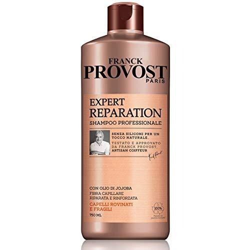 Franck Provost Shampoo Professionale Expert Reparation, Shampoo con Olio di Jojoba per Capelli Rinforzati e Riparati, 750 ml, Confezione da 1