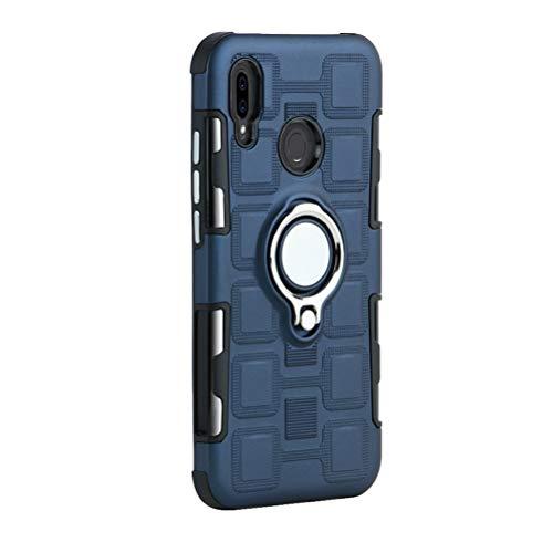 Sport-Handyhülle hinten und Ring, magnetisch, robust, TPU und Handyhülle für Huawei P20 Lite (Dunkelblau)