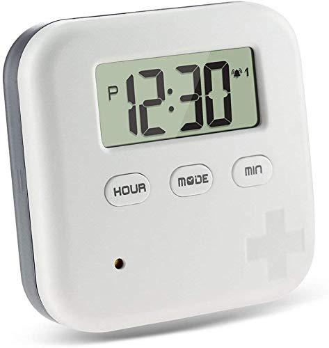 Modezvous Elektronische pillendoos met alarm, automatische pillenwekker pillendispenser, pillendispenser, pillendoosje, medicijnen, elektronische herinnering