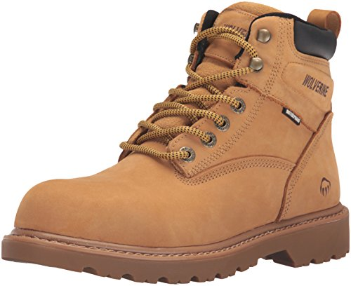 Wolverine Men's Floorhand 6 Inch Waterproof Soft Toe-M Work Boot, Wheat, 12 3E US