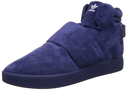 Adidas Zapatillas de correa Tubular Invader, (Dark Blue White Bb5036), 10 D(M) US
