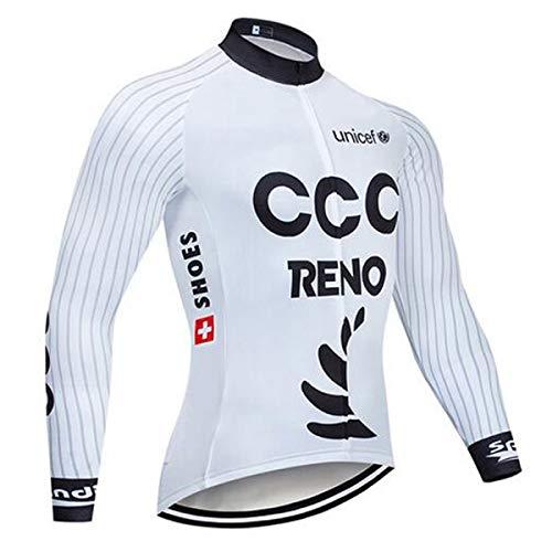 SUHINFE Vêtements Cyclisme d'été pour Hommes Manche Longue, Maillot de Cyclisme pour vélo de Cycliste VTT, Automne, Hiver