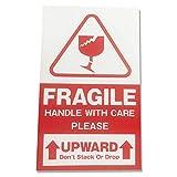 180 etiquetas frágiles adhesivas de advertencia frágiles autoadhesivas.