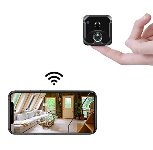 AREBI Spy Camera, 4K UHD Wireless WiFi Hidden Cameras, Mini Nanny Cam, Small Security Camera Indoor, Tiny Secret Surveillance Cams, Long-lasting Battery, Motion Detection Alerts, Super IR Night Vision