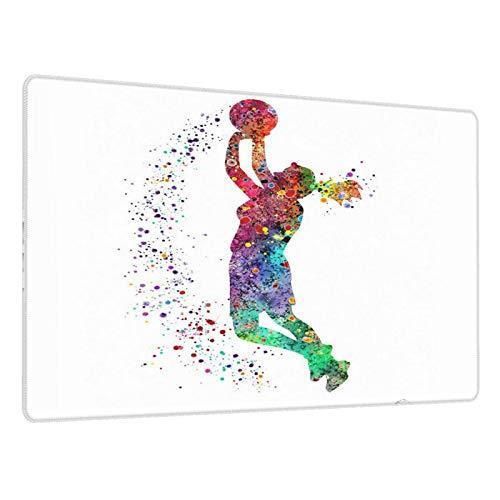 Alfombrilla de ratón Grande para Juegos,Baloncesto, niña, Jugador, Deportes,Base de Goma Antideslizante,Adecuada para Jugadores,PC y portátil(80 x 30cm)