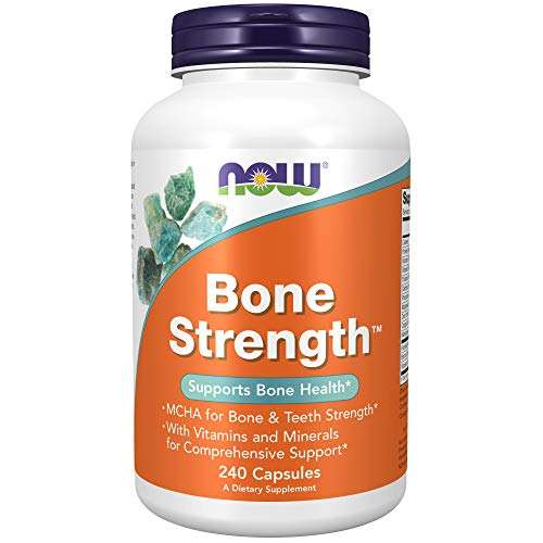 NOW Supplements, Bone Strength with Microcrystalline Hydroxyapatite (MCHA), Magnesium and Vitamins C,D and K, 240 Capsules