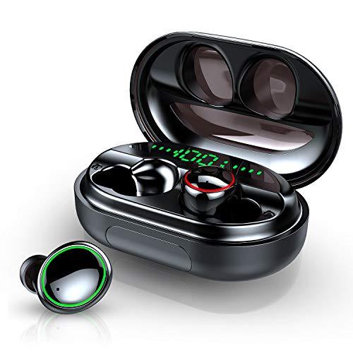 Cuffie Bluetooth, Auricolari Bluetooth5.0 Senza Fili Auricolari Wireless Sportivi in Ear con 3500mAh Custodia da Ricarica, Hi-Fi Stereo CVC8.0 Cancellazione di Rumore Cuffie Senza Fili con Mic, (C5S+)
