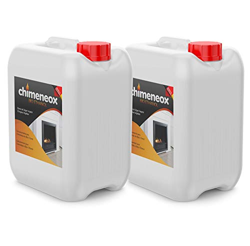 2 x 5L Bioetanol 96% origen Vegetal para chimeneas - Combustión de alta calidad no humos