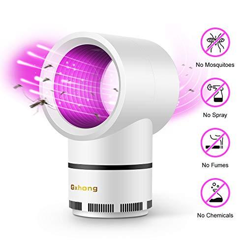 Gxhong Elektrischer Mückenvernichter, USB-Schädlingsbekämpfer Geräuschloses Mückenfanggerät, insektenvernichter Insektenfalle Lampe Mosquito Trapping Fliegenfänger Lampe Ideal für Heimcamping