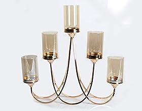 Homes r us Pillar Candle Holder, Brass - 62 x 11.5 x 59.5 cm
