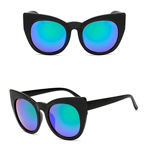 WDDYYBF zonnebril, zonnebril vrouwen mannen kat oog snoepjes Lens Lady zonnebril klassieke vintage goggle uv400 zwart groen