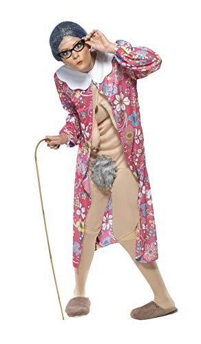 Aptafêtes- Smiffys Costume Grand-mère Descente d'organes, avec Robe de Chambre et Combinaison Déguisement-Adulte Exhibitionniste, CS929343/M, Multicolore, M