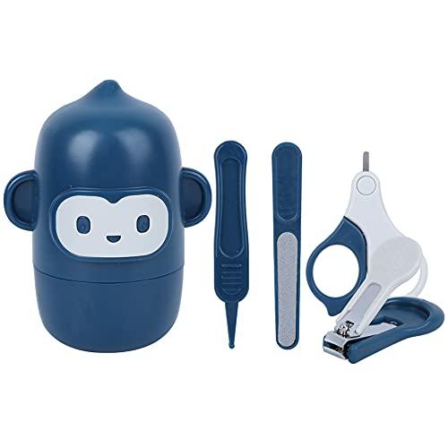 Tijeras de seguridad para bebés para bebés-Baby Nail Clipper Tijeras de lima de uñas Pinzas Set de herramientas de manicura infantil Kit de aseo azul