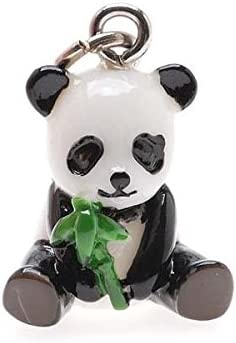 Hand Free shipping on posting reviews Painted 3-D Panda W 19mm 1 Lightweight Charm Colorado Springs Mall Bamboo