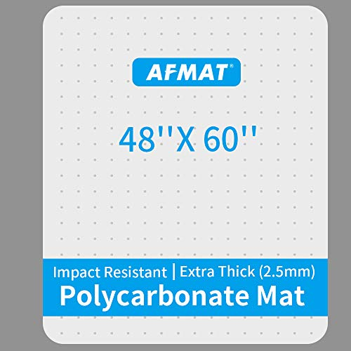 """Heavy Duty Office Chair Mat, Polycarbonate Office Floor Mats, Uncrackable Office Chair Mat for Carpet, 48"""" x 60"""", Office Carpet Protector Mat, Carpet Chair Floor Mat, Rectangular, Clear, Shipped Flat"""