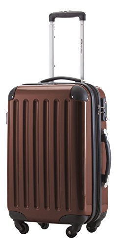 HAUPTSTADTKOFFER - Alex - Carry on luggage Suitcase Hardside Spinner Trolley Expandable 20¡° TSA Brown