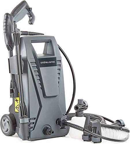 Andrew James Pressure Washer Power Jet Wash with 5 Attachments 1500W...