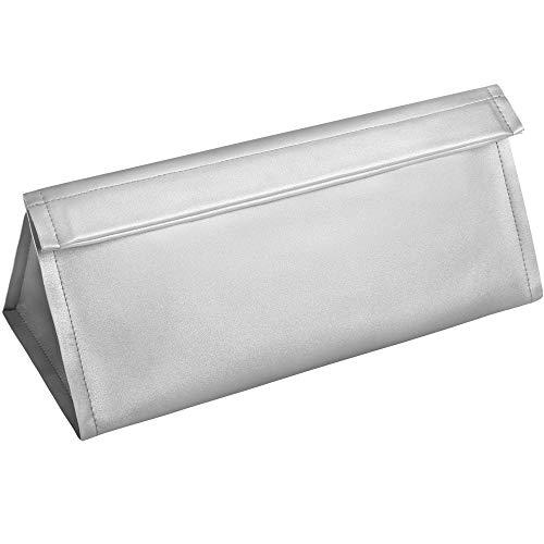 KEESIN Funda impermeable para secador de pelo PU cuero portátil bolsa de almacenamiento para Dyson Supersonic secador de pelo (plata)