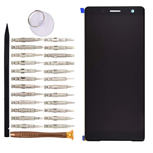 H8324 LCD Digitizer Touch Glass Screen Replacement for Sony Xperia XZ2 Compact H8314 Black