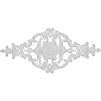 Ekena Millwork ONL26X11X00SP W x H x P Springtime Center Onlay, 26 3/4 W x 11 3/4 H x 3/4 P, White