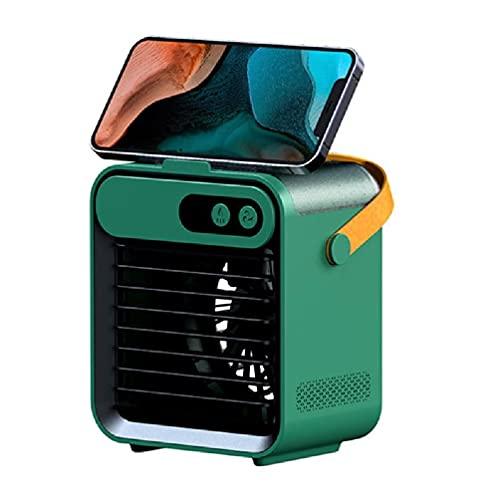 guangruiorrty Handhled Spray Humidificador Ventilador 4000 mAh Batería Alto Volumen Torre Ventilador de Escritorio USB Agua Ventilador