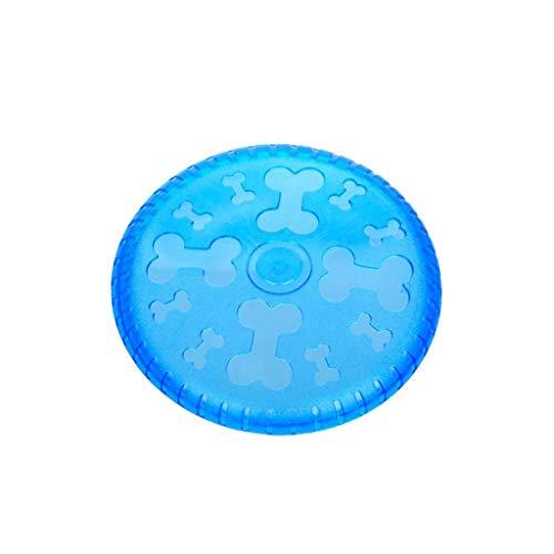 HZPXSB Cyber Rubber Flying Saucer-Puzzle Hundespielzeug Wurfball für mittelgroße Hunde Interaktives Spiel