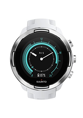Suunto 9, GPS Sports Watch with Long Battery Life and Wrist-Based Heart Rate, Barometer, White